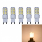 JRLED G9 3W 2835 35-LED Warm White No Strobe LED Bulbs (5 PCS)