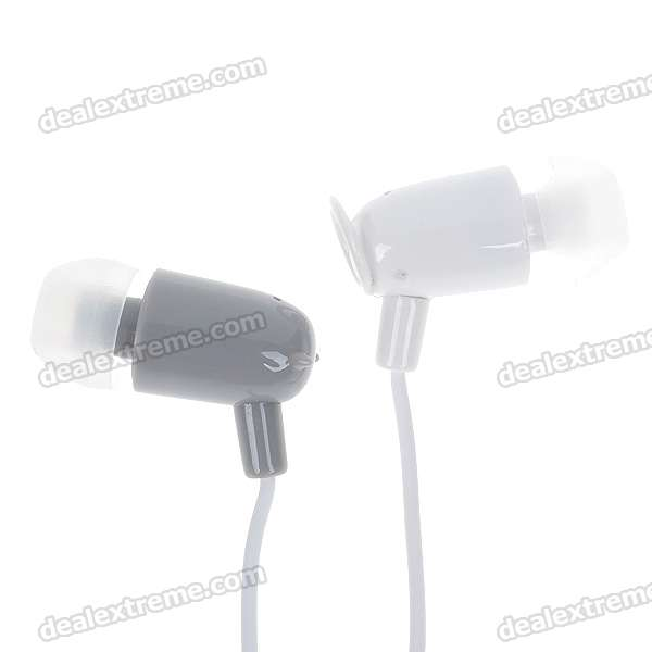 Angel & Demon In-Ear Earphone with Cute Cable Smart Wrap - Grey + White (3.5mm Jack/110CM-Cable)