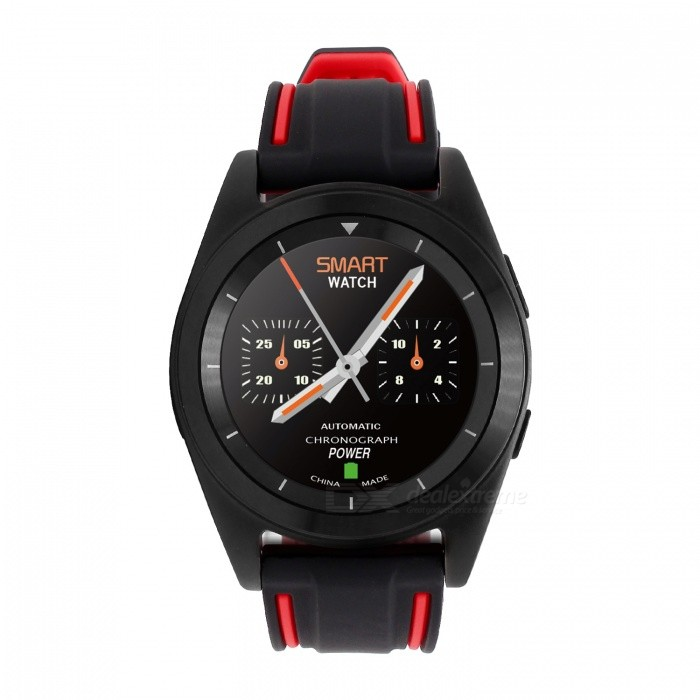 No.1 G6 Bluetooth Smart Watch with Heart Rate Monitor - Black�� Red