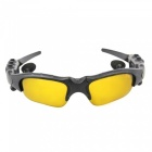 Eastor Bluetooth Sunglasses Hands-free Earphone with Mic - Yellow