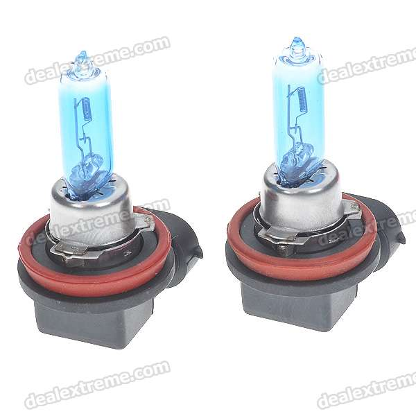 H9 65W 6500K White Car Light Bulbs (Pair/DC 12V)