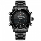 NaviForce 9024 Men's Sports Metal Wrist Quartz Watch - Black, White