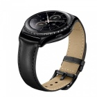 Miimall Genuine Leather Watch Band för Gear S2 Classic - Svart