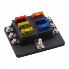 CS-579A1 6-Way Car Modified Fuse Holder Safety Box with Screws - Black