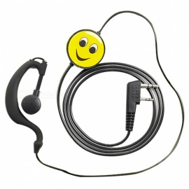 3.5mm Plug Spring Air Duct Tube Headset for Intercom, Mobile Phone
