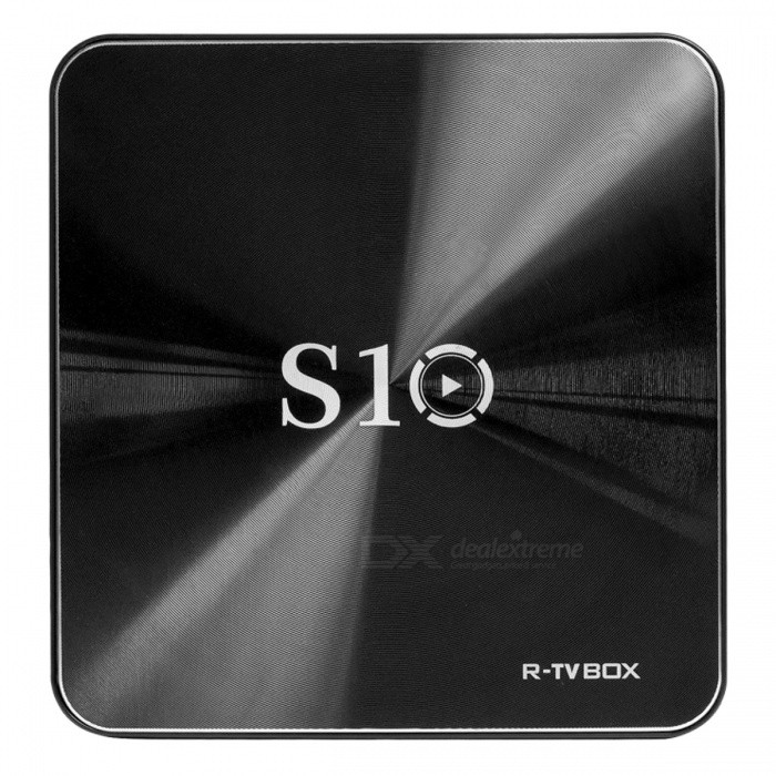 S10 Android 7.1 HD 4K Smart TV Box with 3GB RAM, 16GB ROM (US Plugs)Smart TV Players<br>Form  ColorBlackBuilt-in Memory / RAM3GBStorage16GBPower AdapterUS PlugsModelS10Quantity1 pieceMaterialABSShade Of ColorBlackOperating SystemOthers,Android 7.1ChipsetAmlogic S912CPUOthers,Cortex-A53Processor Frequency2.0GHzGPUARM Mali-T820MP3 GPU up to 750MHzMenu LanguageEnglish,French,German,Italian,Spanish,Portuguese,Russian,Vietnamese,Polish,Greek,Danish,Norwegian,Dutch,Japanese,Bahasa Indonesia,Korean,Thai,Maltese,Latin,Malay,Czech,Greek,Romanian,Swedish,Chinese Simplified,Chinese TraditionalMax Extended Capacity32GBSupports Card TypeMicroSD (TF)Wi-Fi802.11a/b/g/nBluetooth VersionOthers,Bluetooth V4.13G FunctionNoWireless Keyboard/Mouse2.4GHZAudio FormatsMP3,WMA,APE,FLAC,OGG,AC3,DTS,AACVideo FormatsRMVB,AVI,DIVX,MKV,MOV,MP4,M4V,AVC,FLV,VOB,MPG,DAT,MPEG,WMVAudio CodecsDTS,AC3,FLACVideo CodecsH.264,H.265Picture FormatsJPEG,BMP,PNG,GIFSubtitle FormatsMicroDVD [.sub],SubRip [.srt],Sub Station Alpha [.ssa],Sami [.smi]idx+subPGSOutput Resolution1080PHDMI2.0Power Supply5V 2APacking List1 x US power charger 1 x Remote Control 1 x S10 TV BOX1 x User Manual 1 x HDMI cable<br>