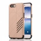 Dual Layer PC TPU Back Case for OPPO R11 Plus - Golden + Black