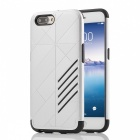 Dual Layer PC TPU Back Case for OPPO R11 Plus - Silver + Black