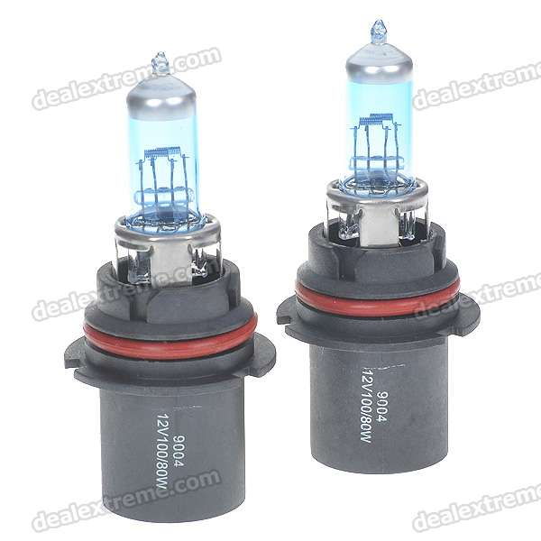9004 100/80W 6500K White Car Light Bulbs (Pair/DC 12V)