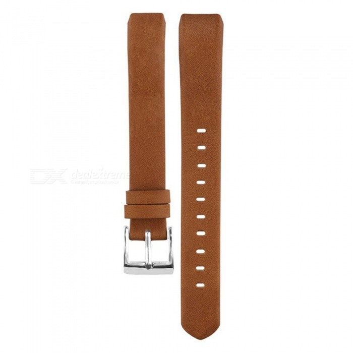 Miimall Leather Replacement Band for Fitbit Alta, Alta HR - Brown