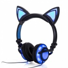 Rechargeable Foldable Flashing Glowing Wired Headphone with LED Light