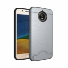 Protective PC, TPU Back Case with Card Slots for Moto G5s - Grey