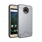 Protective PC, TPU Back Case with Card Slots for Moto G5s Plus - Grey