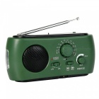 FM/AM Radio, High Sensitivity Hand Crank Dynamo Self-Powered, Rechargeable Battery, Phone Power Bank