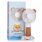 Cute Bear Style Portable Smart Fan - Brown