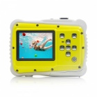 Underwater Waterproof Mini Camera for Christmas Gift - Yellow, White