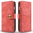 Cwxuan Magnetic Detachable PU Flip Leather Case for IPHONE 7 - Pink