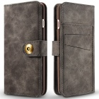 Cwxuan Magnetic Detachable PU Flip Leather Case for IPHONE 7 - Brown