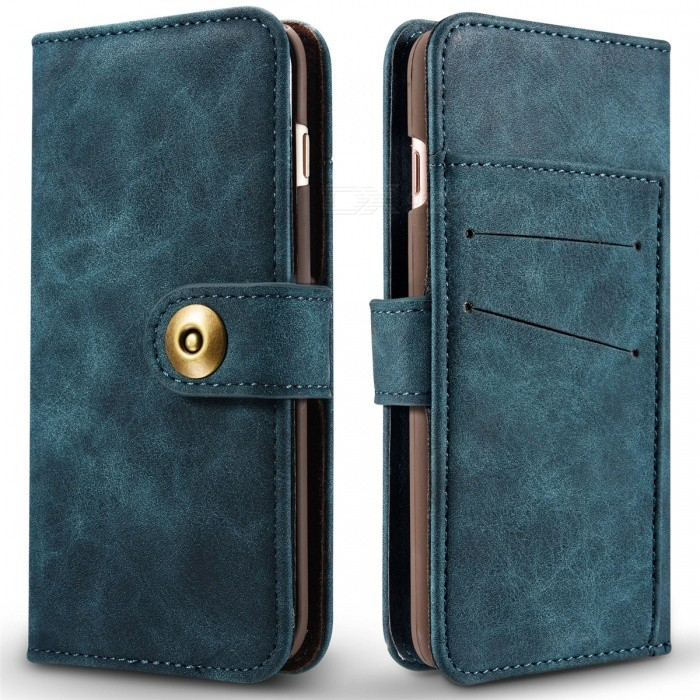 Cwxuan Magnetic Detachable PU Flip Leather Case for IPHONE 7 - BlueLeather Cases<br>Form  ColorBlueQuantity1 pieceMaterialPUCompatible ModelsiPhone 7StyleBack Cases,Flip OpenDesignSolid Color,Card Slot,OthersAuto Wake-up / SleepNoPacking List1 x Case<br>