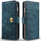 Cwxuan Magnetic Detachable PU Flip Leather Case for IPHONE 7 - Blue