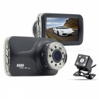 1080P HD Vehicle Car DVR Recorder With Infrared Night Vision - Black