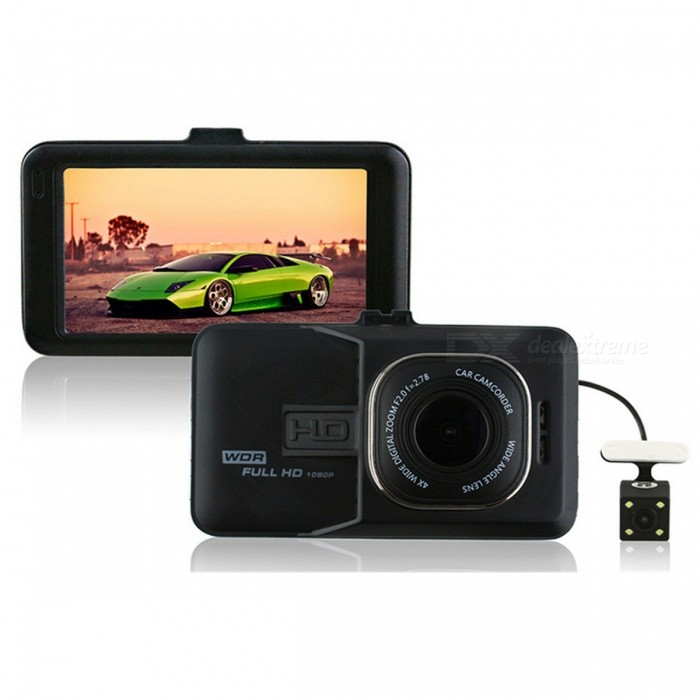 1080P High-Definition 5.0MP Car Video Recorder DVR - Black