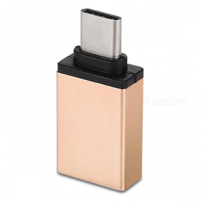 SZKINSTON USB3.0 Type-C Male to USB3.0 Female OTG Adapter - Golden