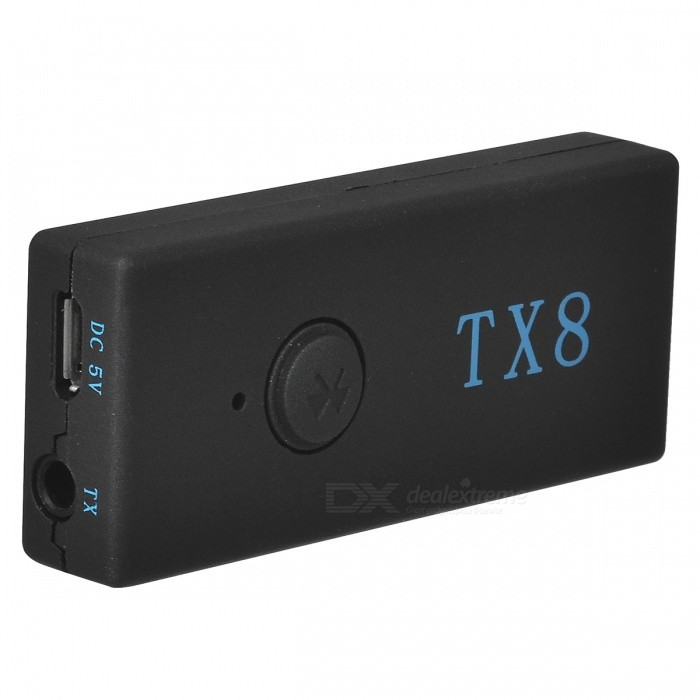 Wireless Bluetooth 3.0 Stereo Audio Transmitter - Black