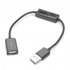 USB Male to Female Data & Charging Cable - Random Color (20cm-Length)