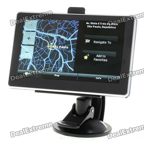 5 LCD Windows CE 5.0 Core GPS Navigator w/FM Transmitter + Bluetooth + Internal 2GB Brazil Maps