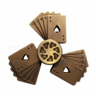 Dayspirit Poker Shape Fidget Releasing Hand Spinner - Red Bronze