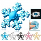 Jouet Finger Toy Spinner à main en forme de flocon de neige OJADE - Noir