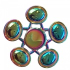 OJADE Rainbow 5-Oval Shaped Hand Spinner Fidgets Fingertip Gyro Toy