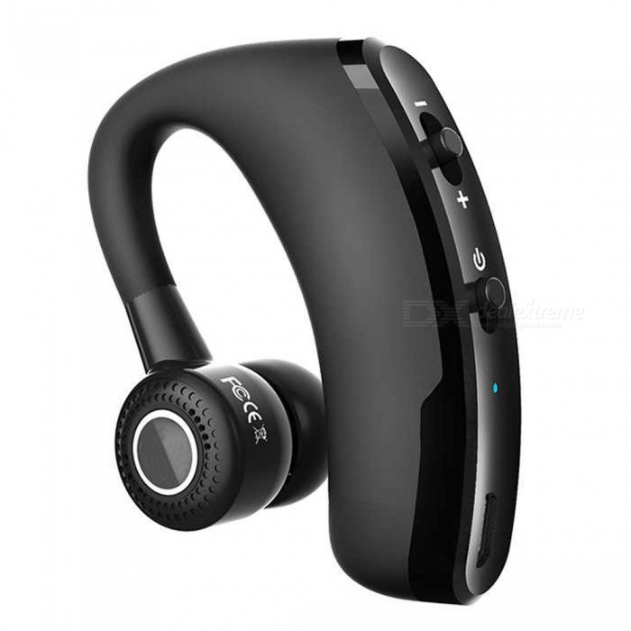 Eastor V9 Wireless Bluetooth Car Handsfree Earphone with Mic - BlackHeadphones<br>Form  ColorBlackBrandOthers,EastorModelV9MaterialPlasticQuantity1 setConnectionBluetoothBluetooth VersionBluetooth V4.1Bluetooth ChipCSROperating Range10MConnects Two Phones SimultaneouslyYesHeadphone StyleUnilateral,Earbud,In-EarWaterproof LevelOthers,SwearproofApplicable ProductsUniversalHeadphone FeaturesEnglish Voice Prompts,Phone Control,Long Time Standby,Noise-Canceling,Volume Control,With Microphone,Lightweight,Portable,For Sports &amp; ExerciseSupport Memory CardNoSupport Apt-XYesSensitivity95±3dBFrequency Response20-24000HzImpedance16 ohmBattery TypeLi-polymer batteryBuilt-in Battery Capacity 90 mAhStandby Time20 daysTalk Time10 hoursMusic Play Time8 hoursPower AdapterUSBPacking List1 x Earphone1 x USB cable3 x Ear caps1 x English Manual<br>