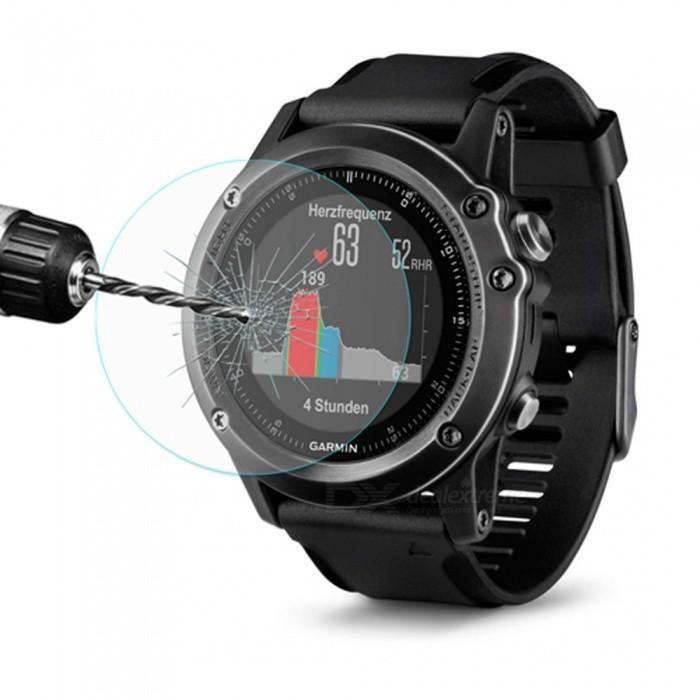 Film de verre trempé transparente Hat-Prince 0.2mm pour Garmin Fenix ​​3 HR