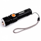 WOSAWE BCD-412 T6 USB Rechargeable 3-Mode Bicycle Flashlight with Clip
