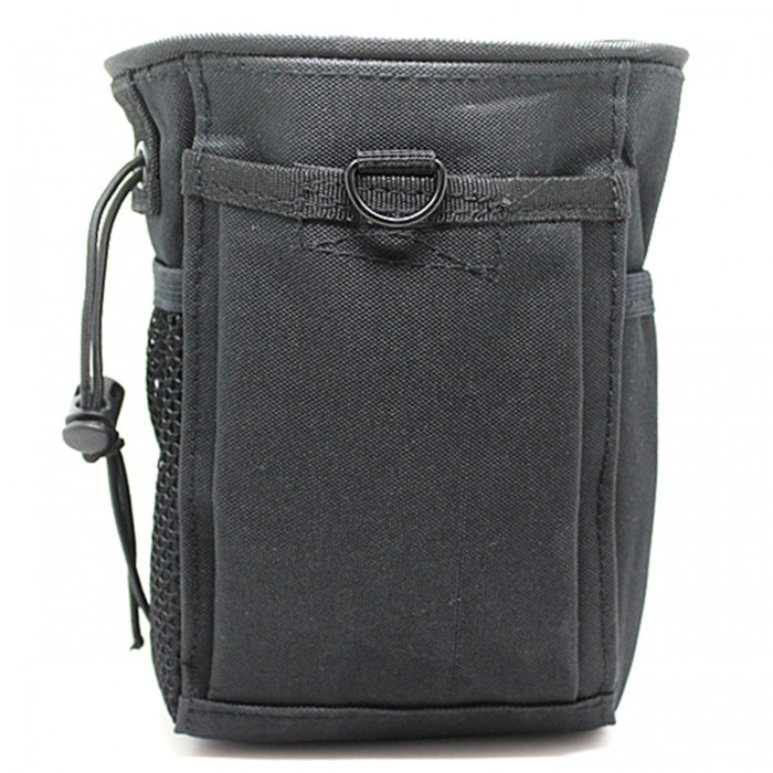 Small Trash Nylon Bag, Molle Tactical Casual Sports Bag - BlackGun Holsters<br>Form  ColorBlackQuantity1 pieceMaterialNylonSizeSPacking List1 x Pouch<br>