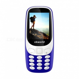"VKWORLD Z3310 2.4"" GSM Dual SIM Phone with 32MB RAM, 32MB ROM - Blue"