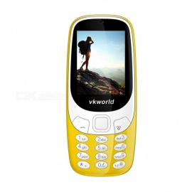 "VKWORLD Z3310 2.4"" GSM Dual SIM Phone with 32MB RAM, 32MB ROM - Yellow"