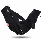 WOSAWE Outdoor Cycling Warm Anti-Slip Full-Finger Gloves - Black (XL)
