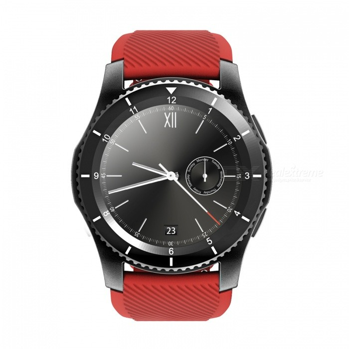 NO.1 G8 MT2502 Carte SIM à pression artérielle Smartwatch - Noir, Rouge