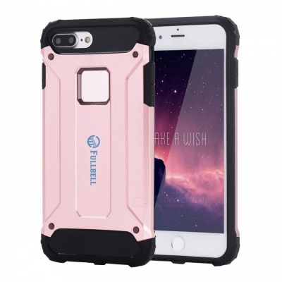 FULLBELL Hard PC Soft Silicone Case for IPHONE 7 Plus - Rose Golden