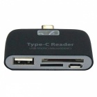 USB 3.1 Type-C MacBook OTG TF SD Card Reader - Black