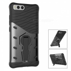 Protective TPU, PC Back Case with Holder Stand for Xiaomi 6 - Black