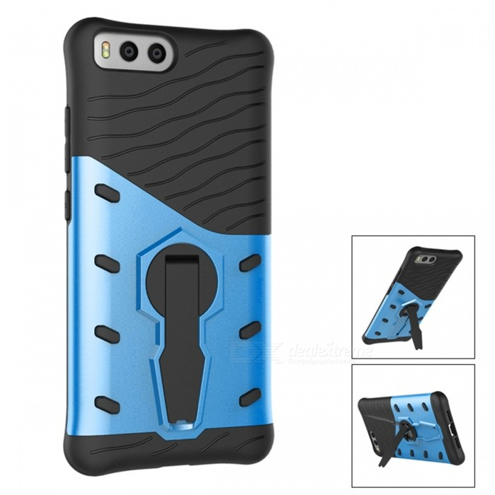 Protective TPU�� PC Back Case with Holder Stand for Xiaomi 6 - Blue
