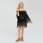 Blouson solaire Sexy Lace Hollow Out Beach - Noir (S)