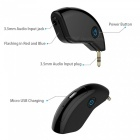 Rechargeble Car Audio Bluetooth Dongle Transmitter - Black