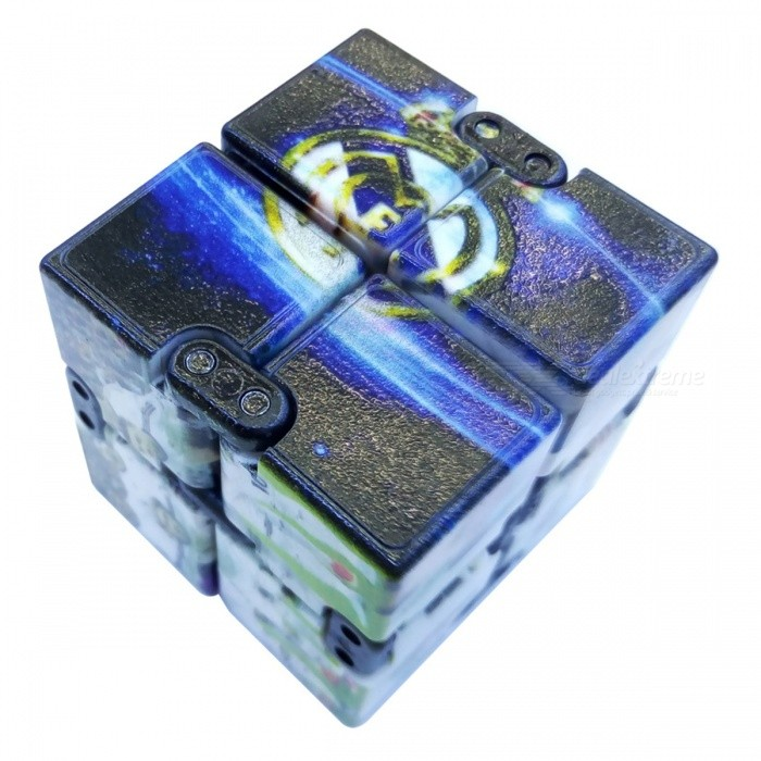 Dayspirit Real Madrid CF Pattern Infinity Cube Magic Spinner Toy - BluFinger Toys<br>Form  ColorBlue + multicolor (Real Madrid CF)MaterialABSQuantity1 pieceSuitable Age 5-7 years,8-11 years,12-15 years,Grown upsPacking List1 x Spinner<br>