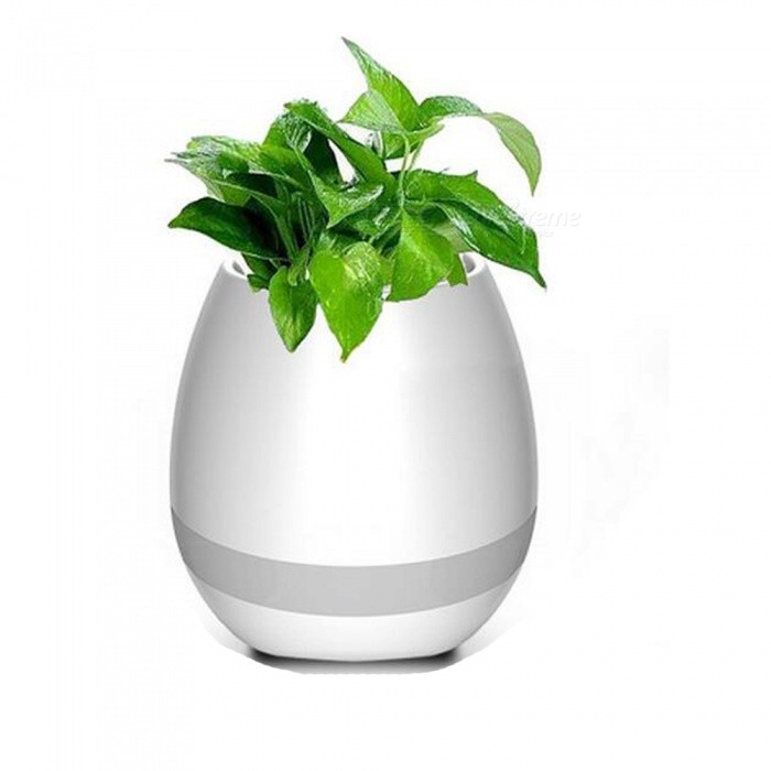 i-mu Wireless Bluetooth Music Flowerpot Speaker - White(Without Plant)