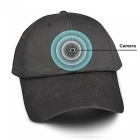 720P Baseball Cap Sun Hat  Video Camera DVR - Black